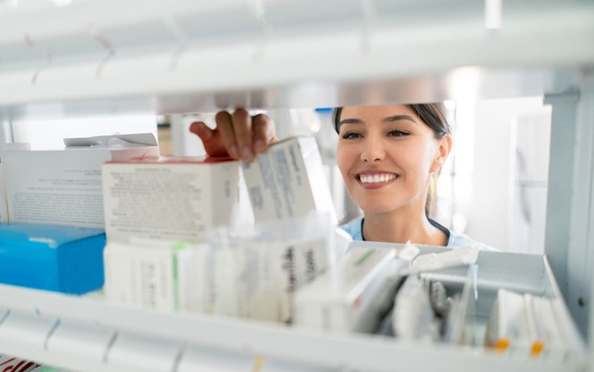 Latin American Woman at a Pharmacy